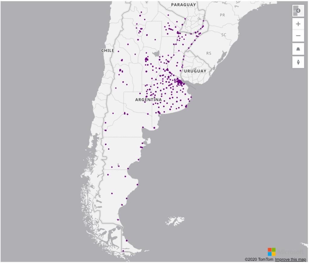Argentina Geolocations Addresses for Power BI Tableau QlikView Qlik Sense